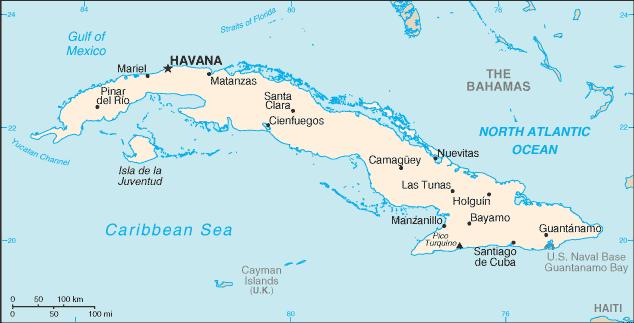 cuba carte geographique