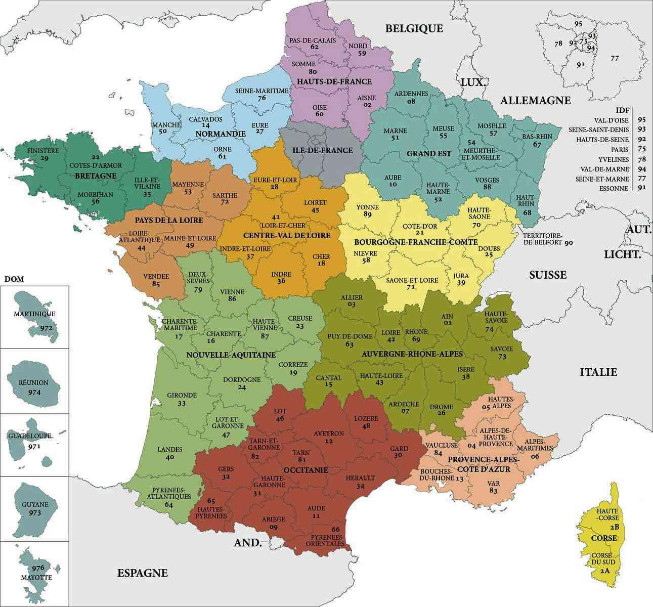 departements de france