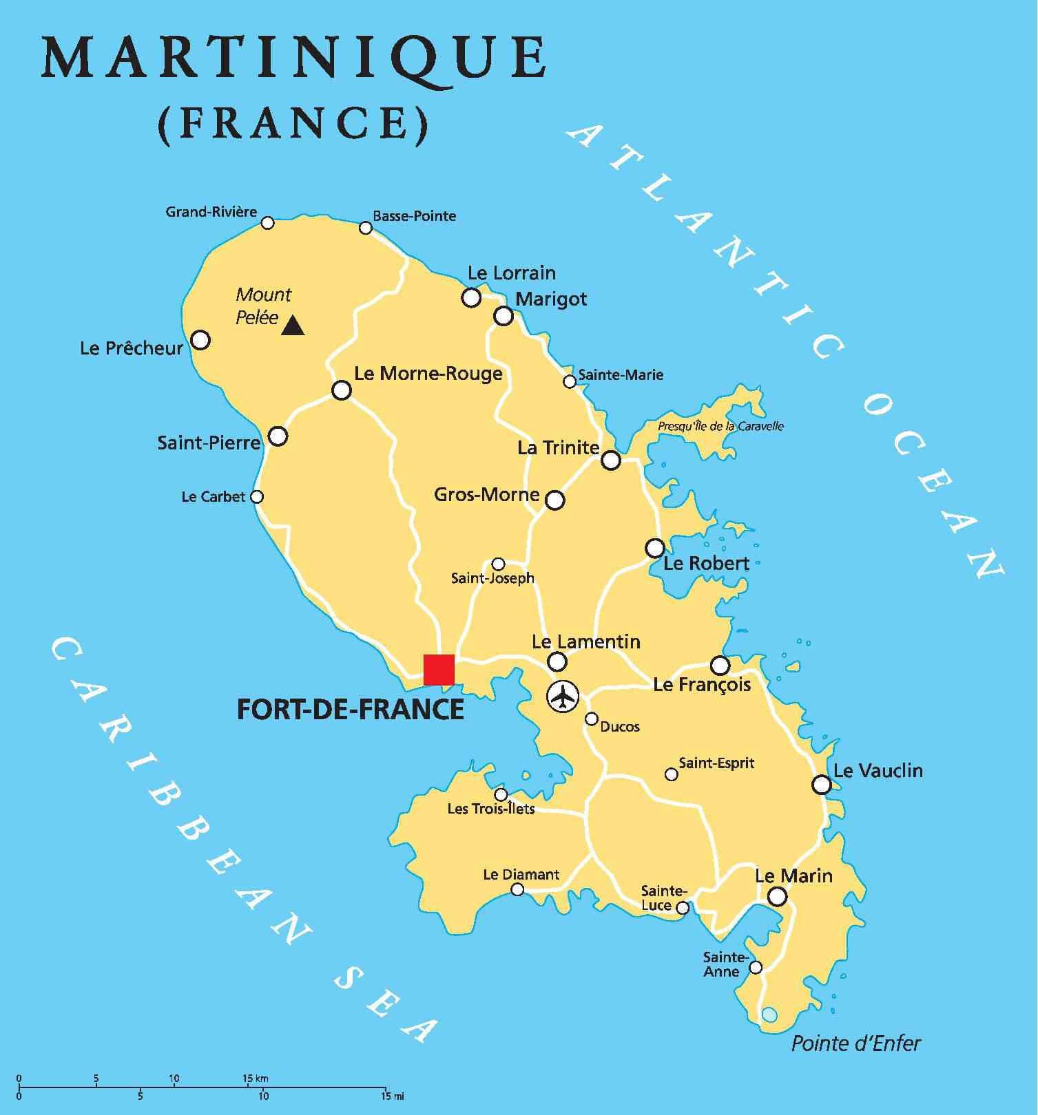 fort de france capitale de la martinique