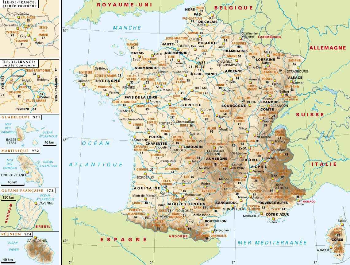 france carte geographique