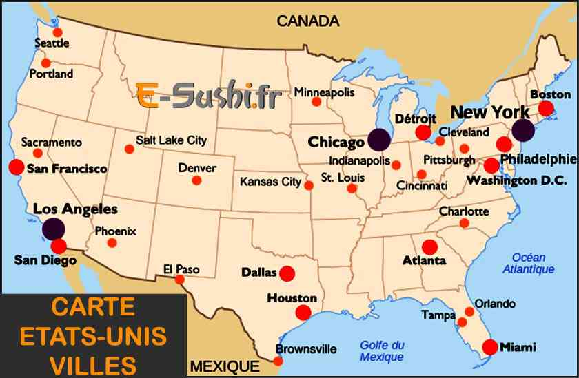 grandes villes etats unis