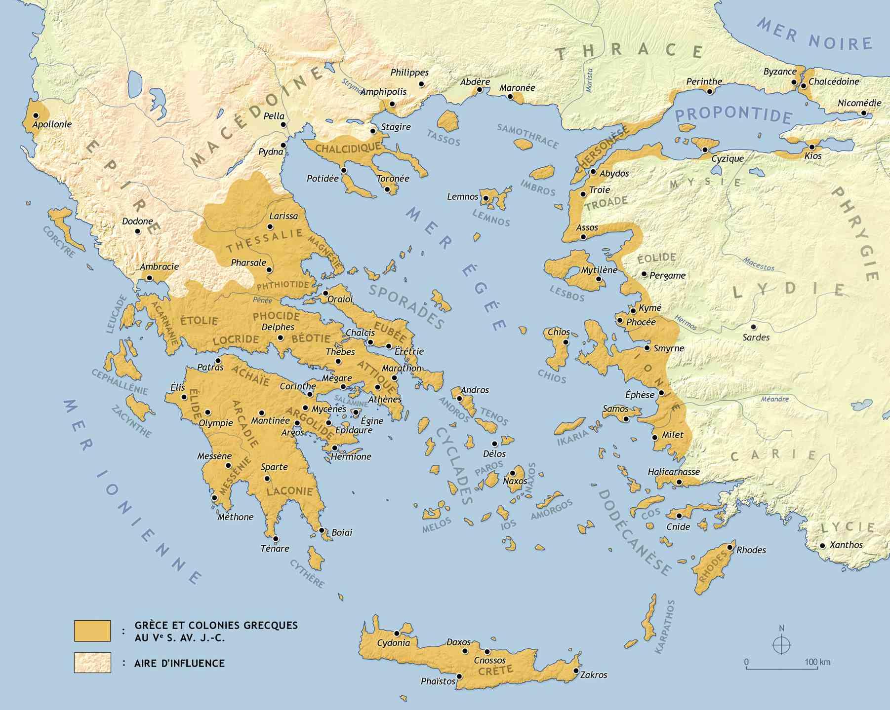 grece carte et plan