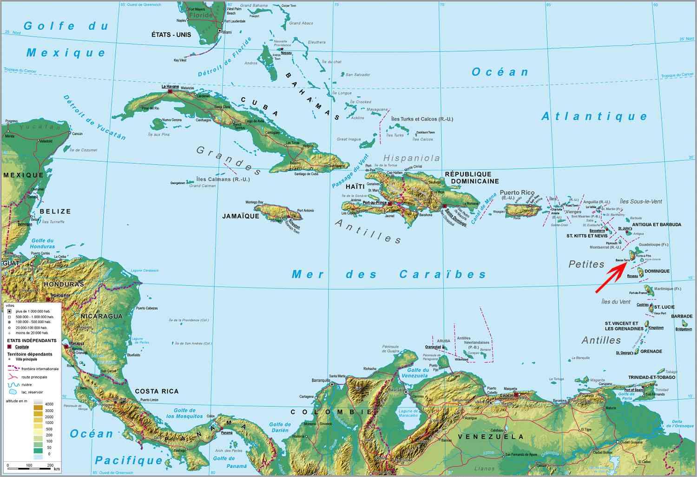 guadeloupe carte du monde