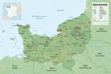 haute normandie relief climat