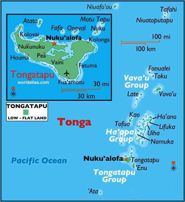 iles tonga carte touristique