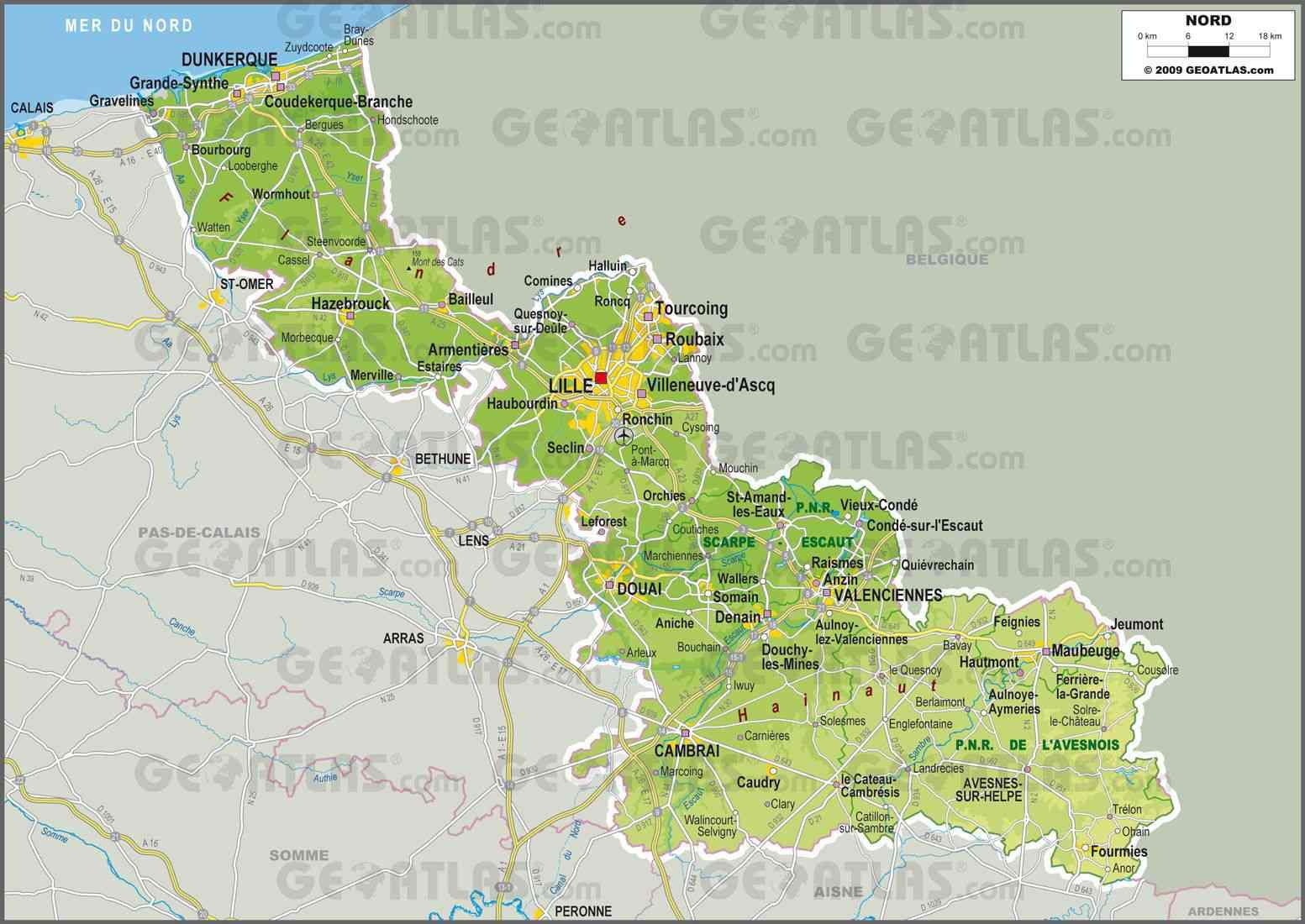 la carte du nord