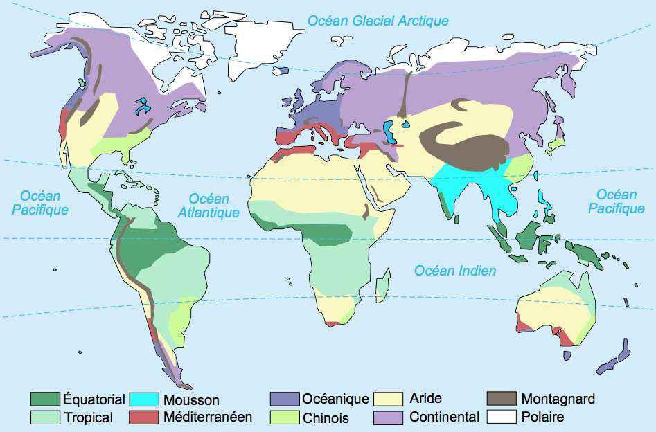 le climat oceanique