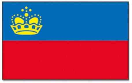le liechtenstein drapeau