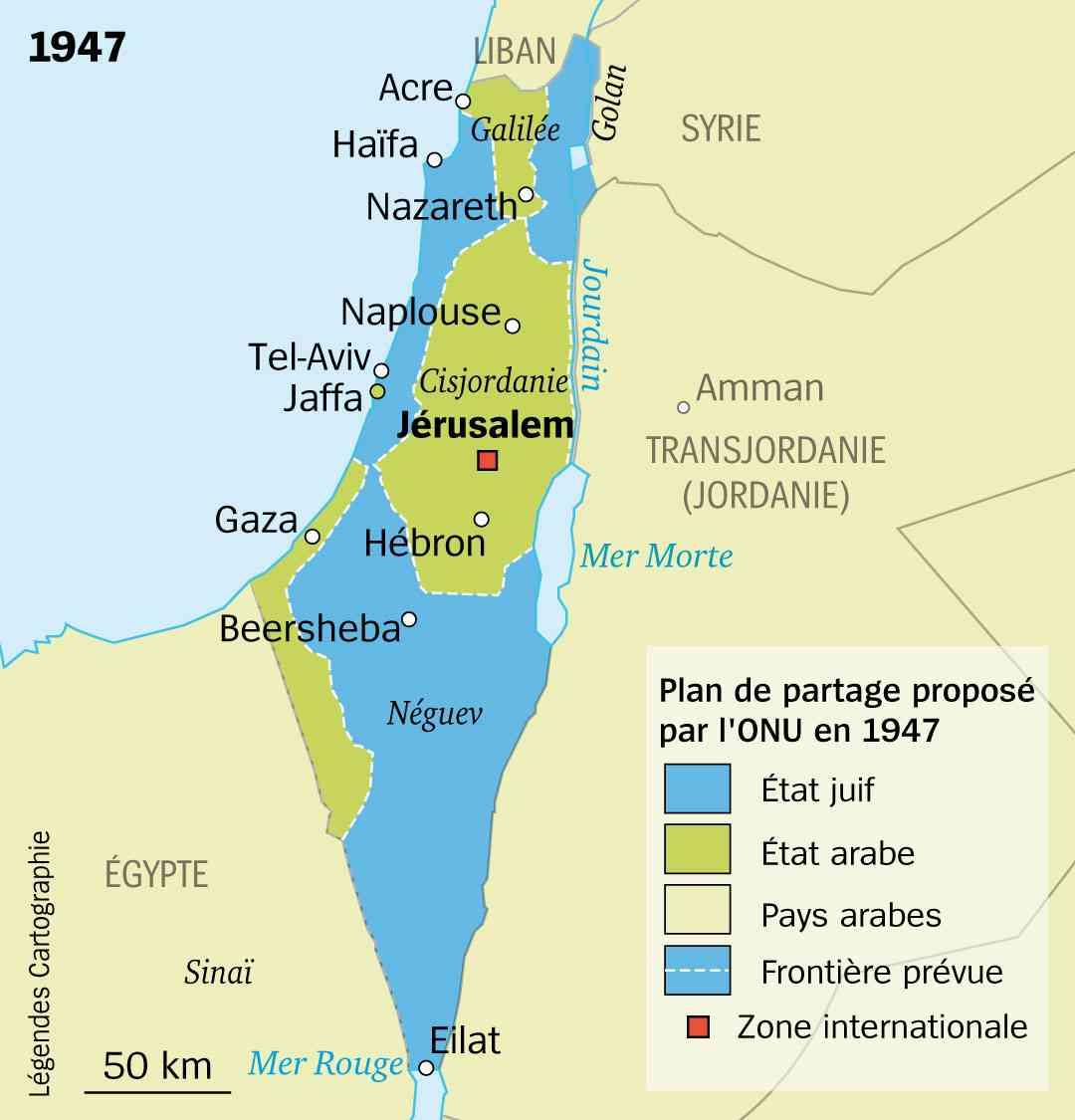 palestine carte