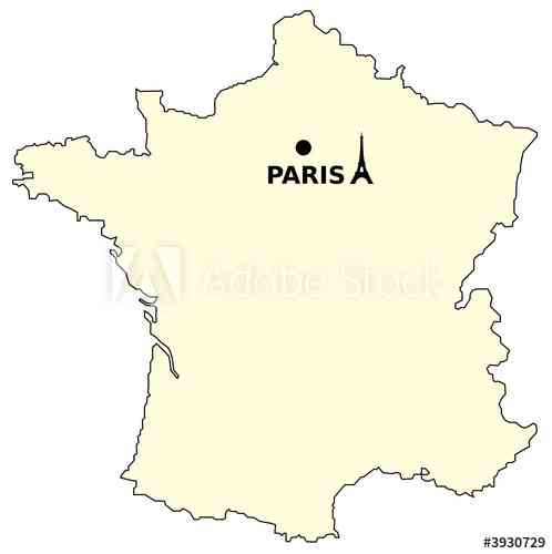 paris sur la carte de france