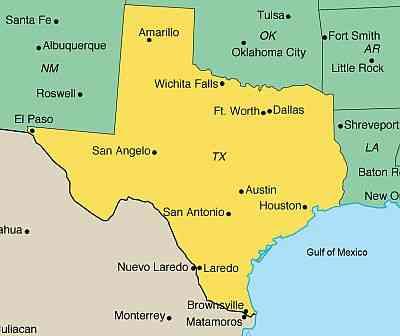partir au texas