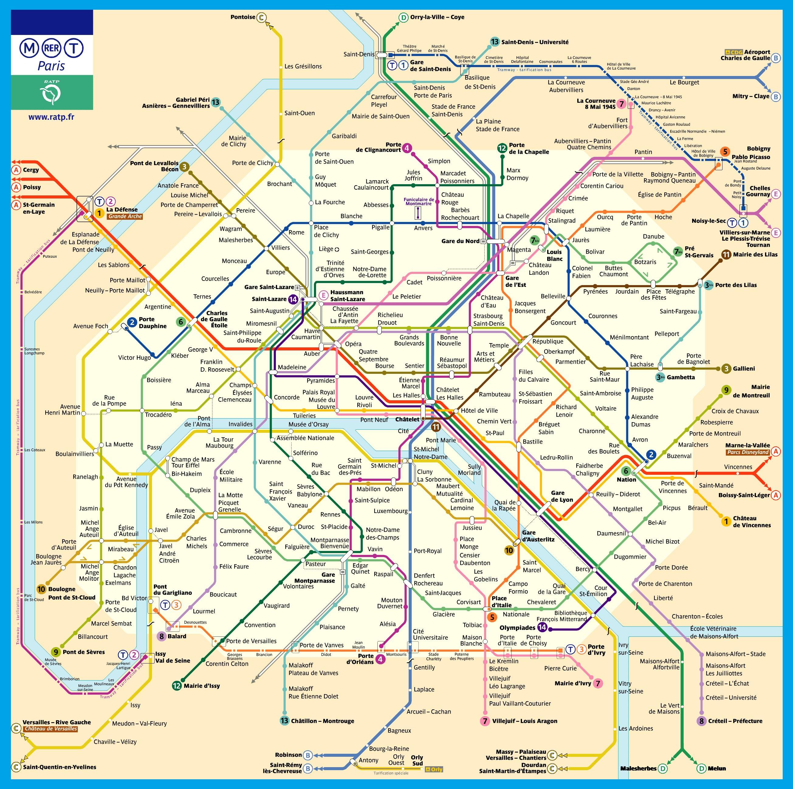 pdf plan metro paris
