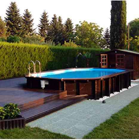 piscine jardin bois