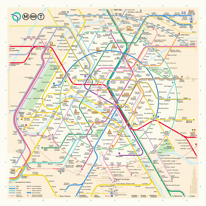 plan du metro de paris