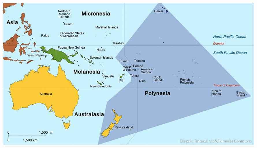 polynesie carte des iles