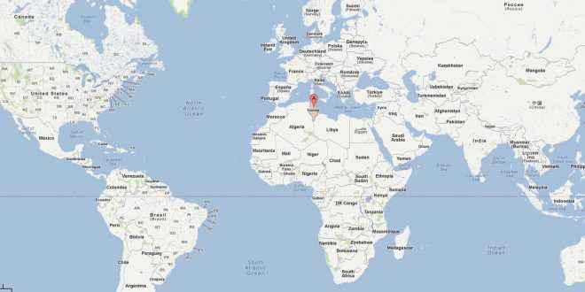 tunisie carte du monde
