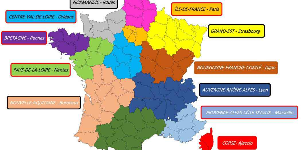 vacance france regions
