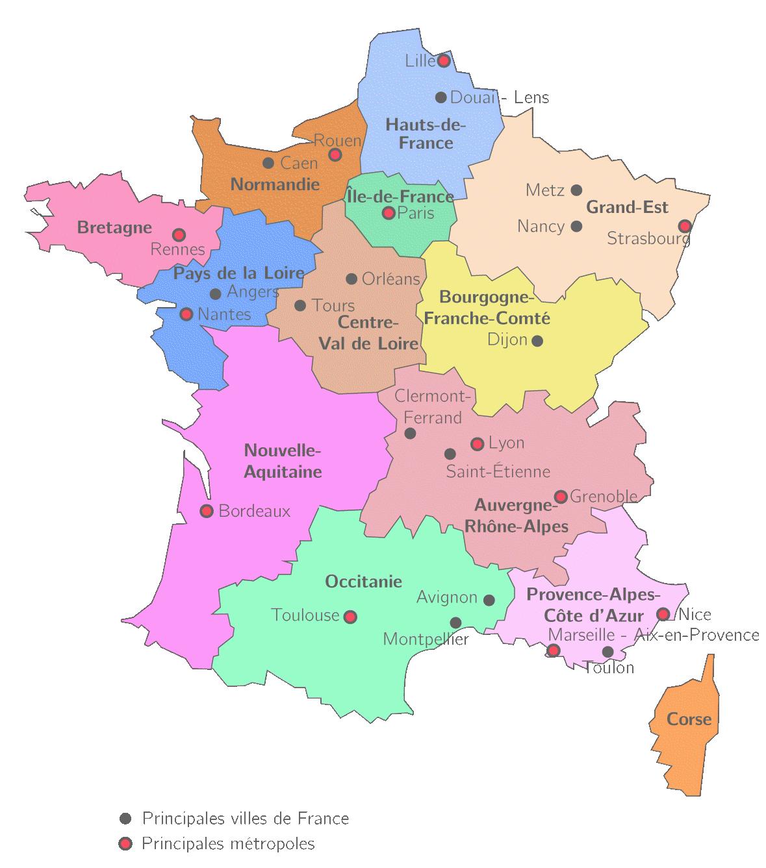 villes de france carte