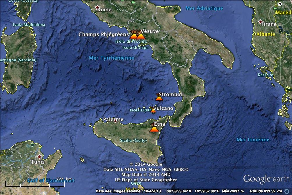 volcans en italie