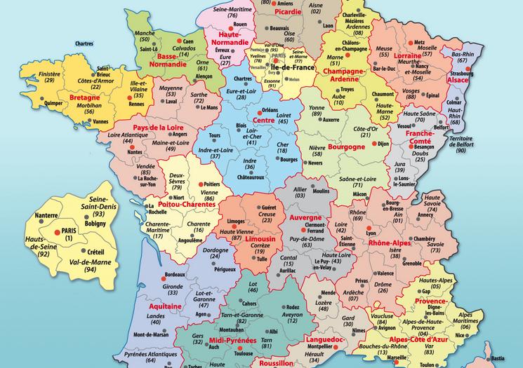carte de france département et ville Carte de France départements villes et régions » Vacances   Arts