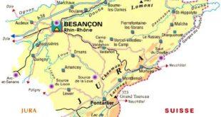 Carte - Département du Doubs