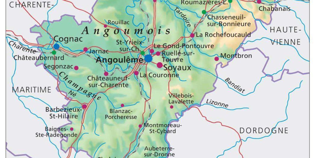 Carte - Charente