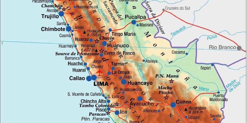 Carte du Pérou