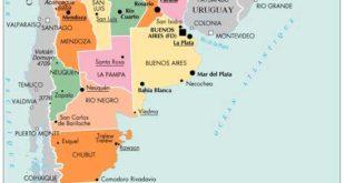 Carte e l'Argentine