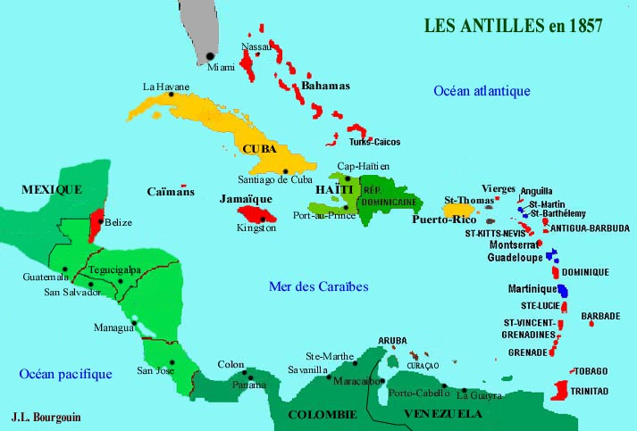 Antilles - Carte
