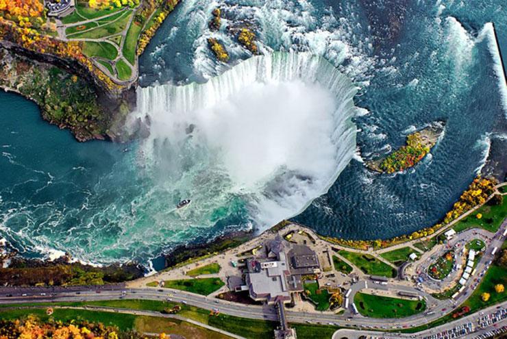 les chutes du Niagara - Vue du ciel
