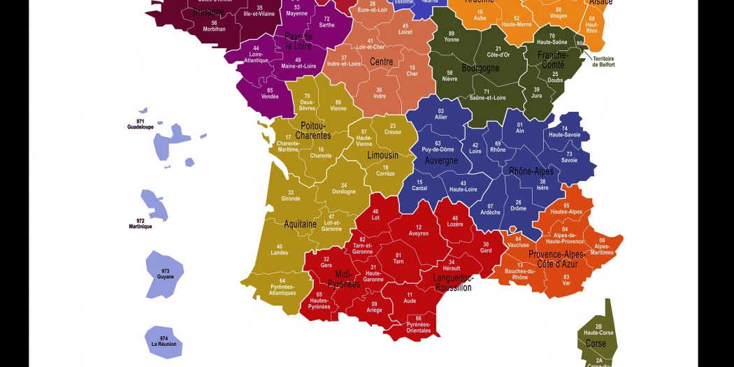 Carte-France-13 Regions