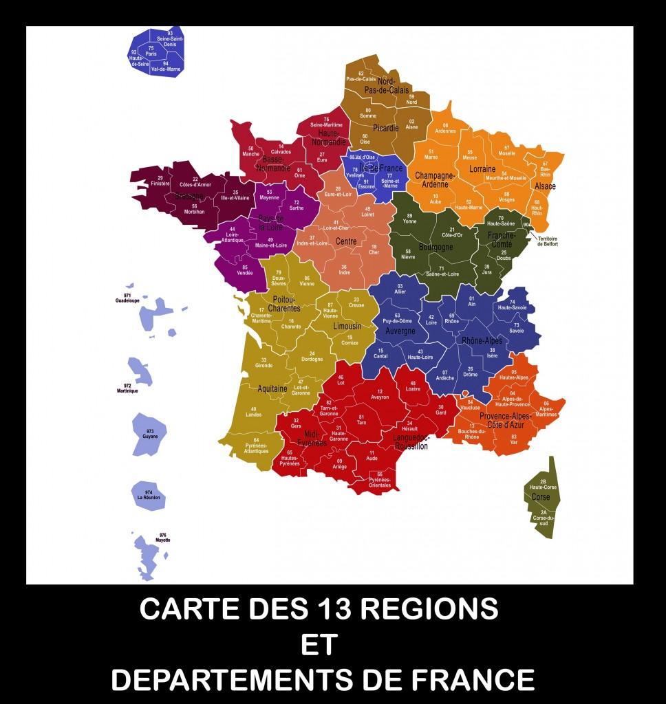Carte De France Des Regions Images Vacances Guide Voyage