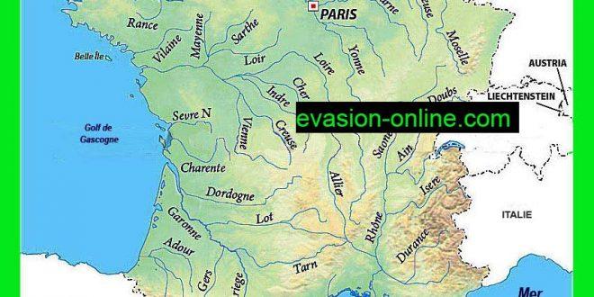 Carte des fleuves de France