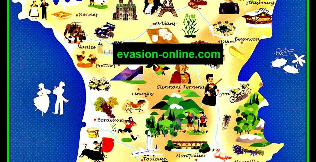 Carte France - Villes touristiques