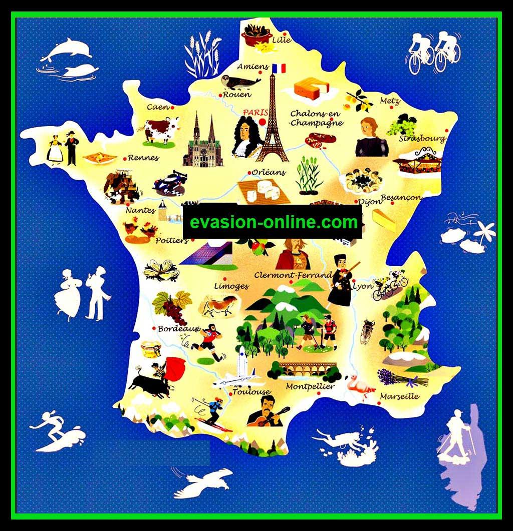 carte france villes touristiques