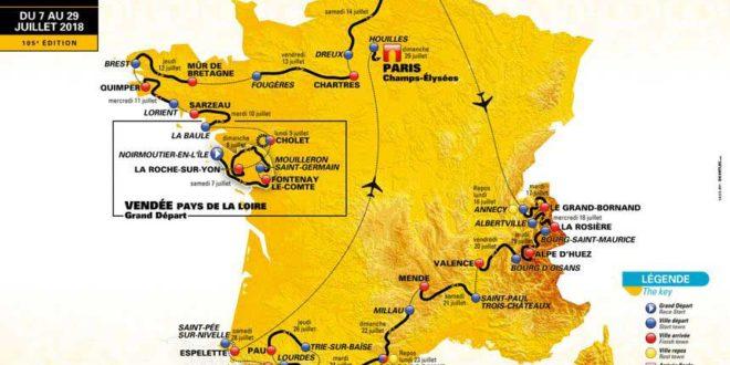 Carte Tour de France