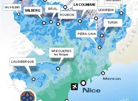 carte-Domaine skiable France