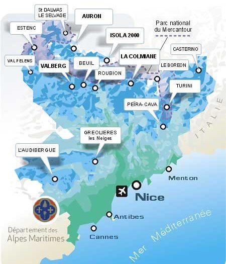 carte-Domaine skiable France