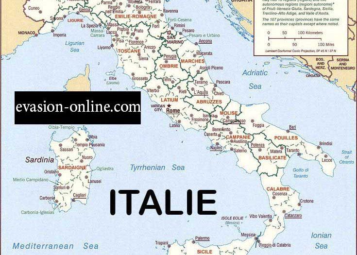 Carte Italie