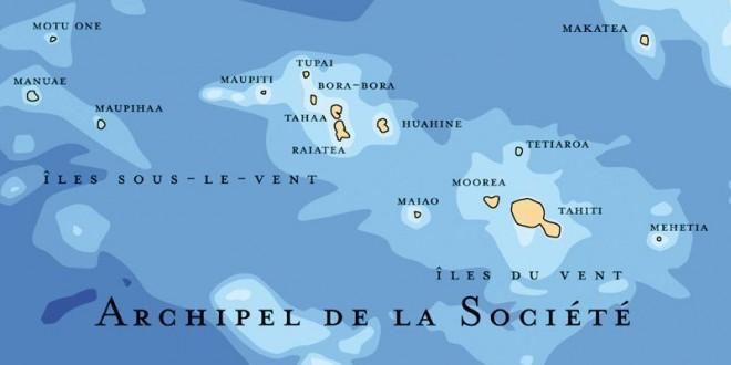 Carte des îles sous le vent