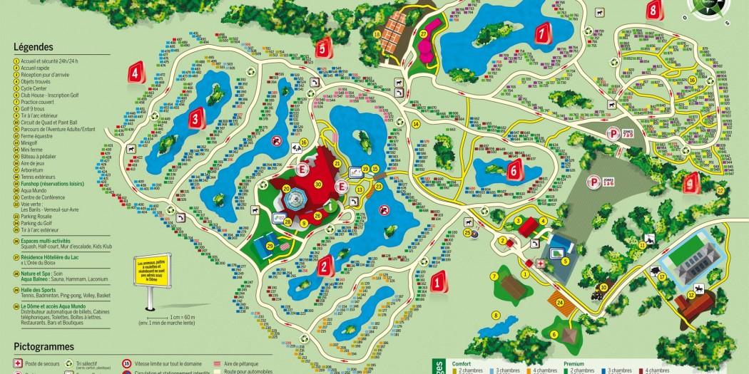 Center parcs Normandie Plan
