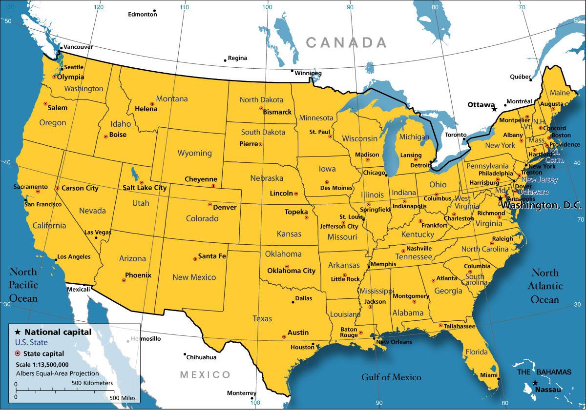 états unis villes