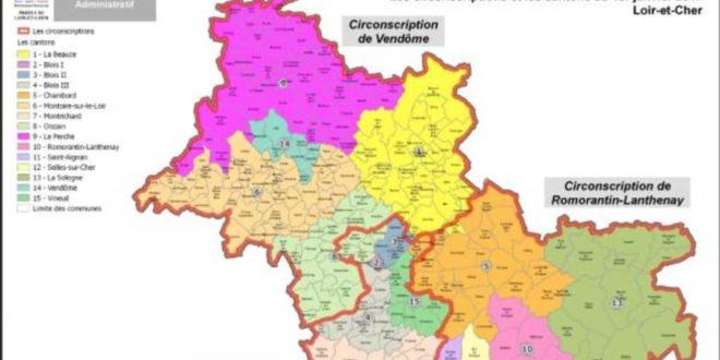 Loir et Cher carte des circonscriptions
