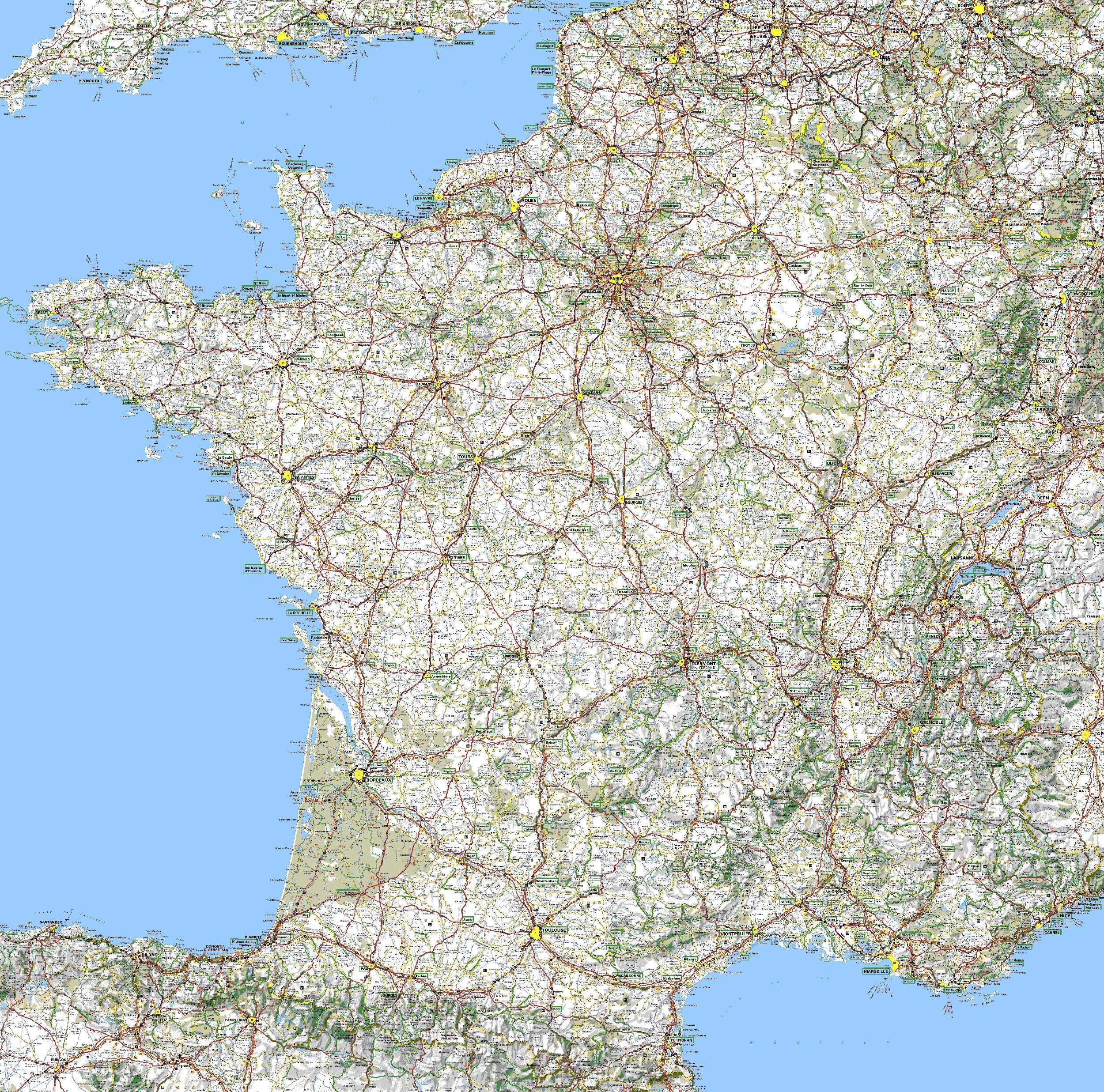 carte des routes de france