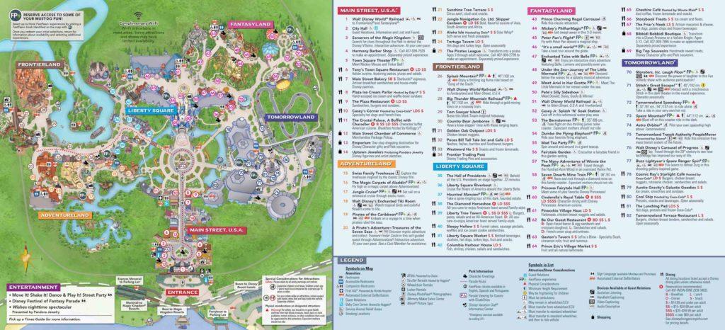 carte parc walt disney world