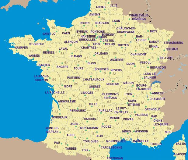 carte de france avec toutes les villes Villes françaises » Vacances   Arts  Guides Voyages