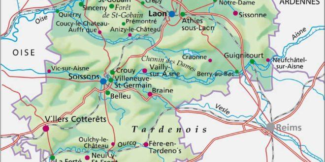 Aisne - Carte