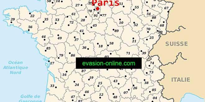 Paris - Carte de France