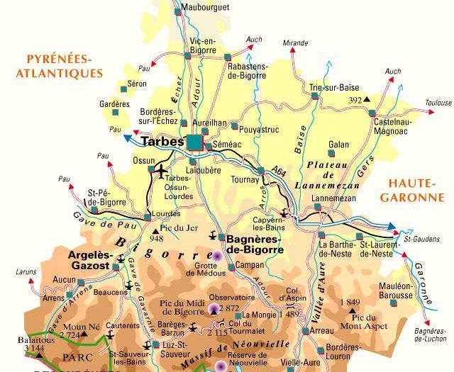 Carte -hautes-pyrenees