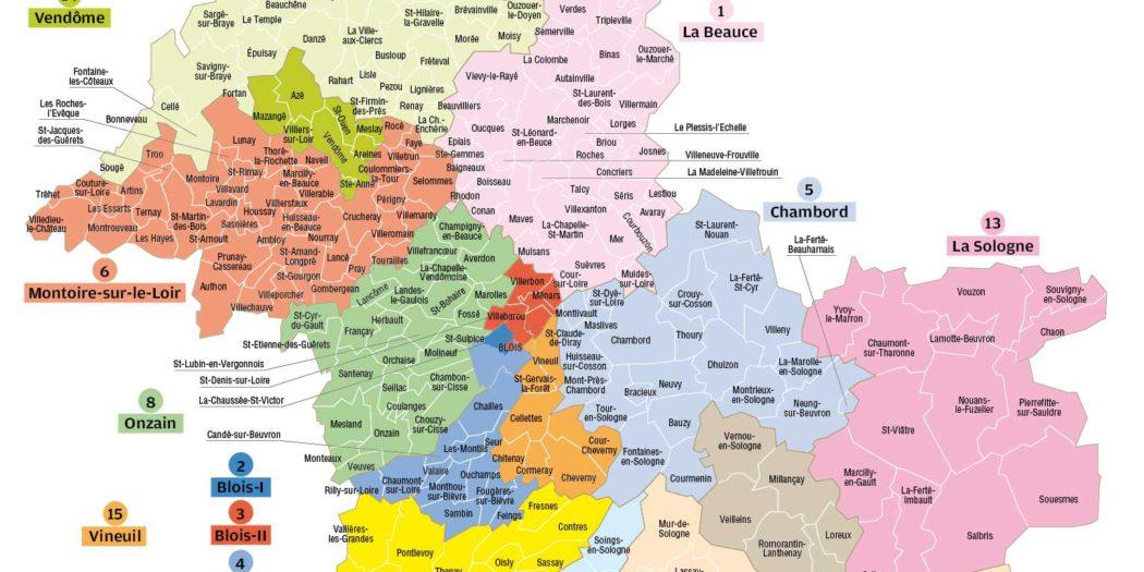 Carte du Loir et Cher Département 41